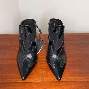 Zara Black Mules Size 6.5
